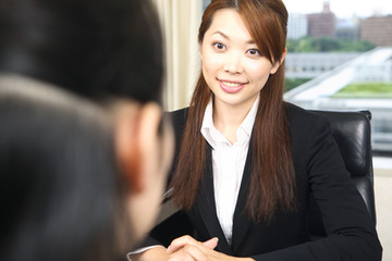 Businesswoman in an interview
